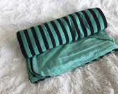 Double Sided Mint Swaddle Blanket