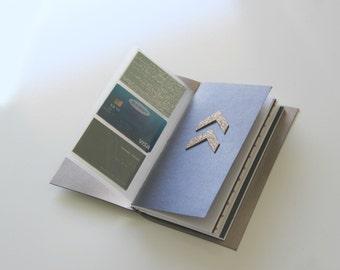 Travelers Notebook Wallet Card Holder Insert. Fauxdori Pockets, Midori Wallet Insert, 30 sleeves, holds up to 60 cards, Midori Wallet Pocket
