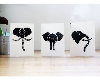 Elephant Notecard Set