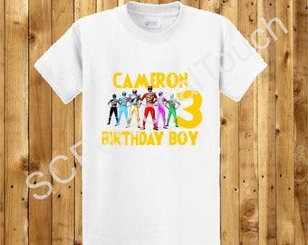 Power Rangers Birthday Shirt