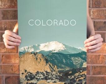 Pikes Peak, Colorado Poster 11x17 18x24 24x36