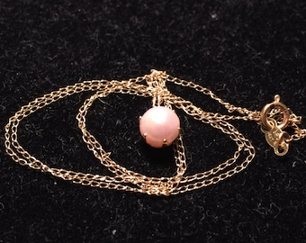 IPS 14k yellow gold with fine culture pearl necklace