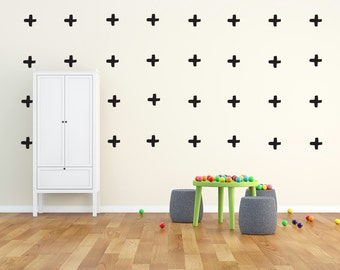 Cross Shape Wall Stickers (hand drawn shape) : 22 stickers per pack - Choice of colour