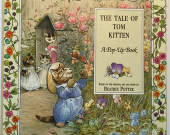 Vintage Pop-Up The Tale of Tom Kitten hardcover book