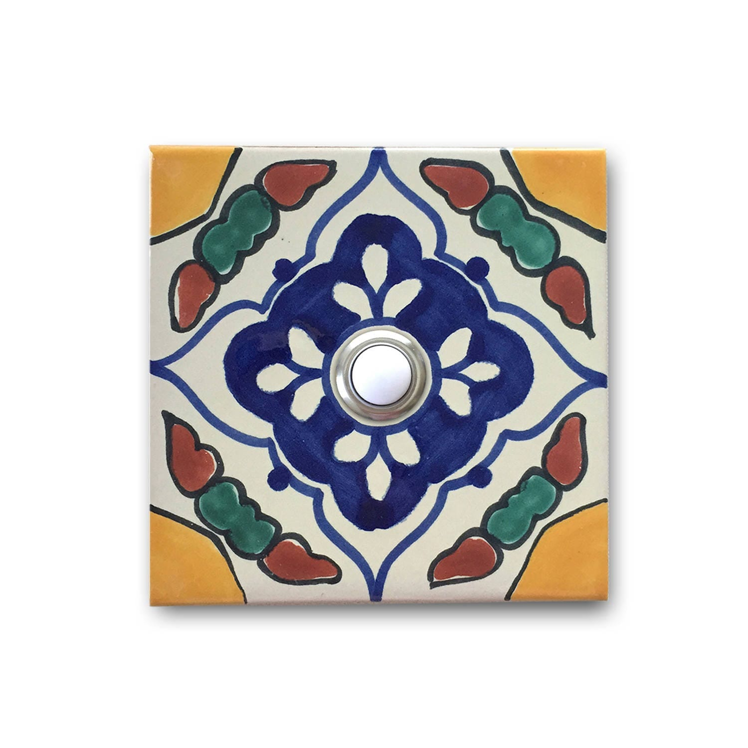 3x3 ceramic tile image collections tile flooring design ideas doorbell 3x3 handcrafted ceramic tile cover with lighted zoom doublecrazyfo image collections dailygadgetfo Images