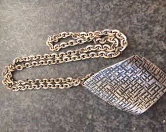 SUMMER SALE: Modernist Jorgen Jensen Handmade Pewter Necklace