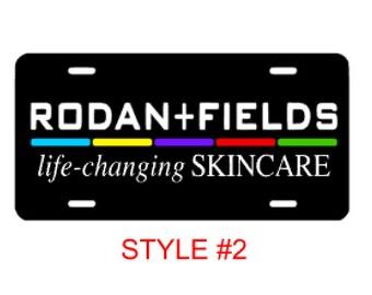 Rodan and Fields Car License Plate Tag, R + F Car Decal, Rodan & Fields, RF Decal, R+F Decal, R+F