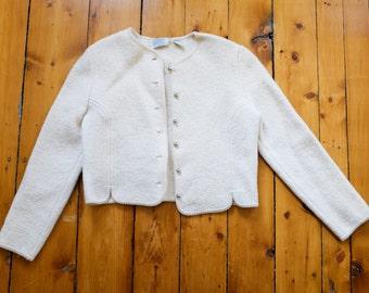 Wool Crop Jacket/ Cardigan