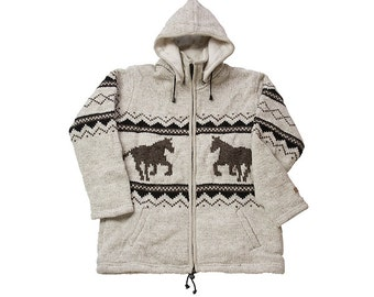 Horse Coat, jacket, sweater, cardigan, Coat, Hoodie