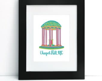 The Old Well, UNC Chapel Hill, NC Print 8x10