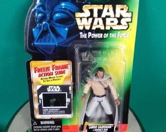 Star Wars Power of the Force Freeze Frame Action Slide Lando Calrissian 1990's Kenner