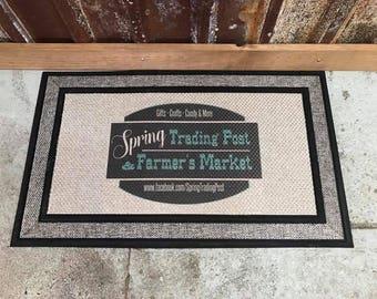 Custom Doormat with your Full Color Image - Full Color - Business Logo Doormat - Household decor Doormat - Custom Door Mat - Christmas Gift
