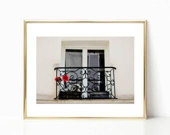 French Decor, Paris Photography, Gallery Wall Prints, Large Wall Art, Paris Prints, Travel Art, Window Print, Black and White