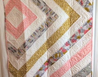 Organic Baby Quilt, Modern Organic Quilt, Baby Quilt, Organic Quilt, Handmade  Quilt, Small Quilt, Wheelchair Quilt