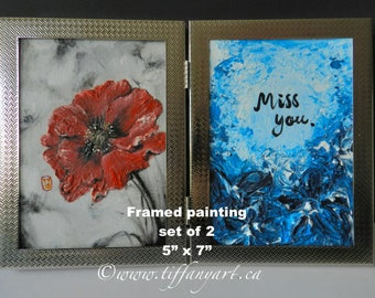 red poppy,miss you sign,i miss you,poppy painting,poppy oil painting,poppy wall art,Canada 150,poppy flower,poppy wall decor,red poppy art