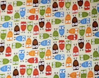 Cartoon Owl Individual Fat Quarter – 100% Cotton