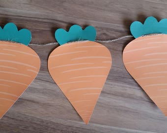 Custom Made Carrot Bunting Banner Peter Rabbit Medium Size
