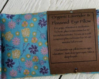 Organic Flaxseed and Lavender Soothing Eye Pillow/Meditation/Relaxation/Yoga/Savasana/Wellbeing/Yoga Meditation