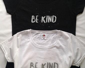 Be Kind Black Tee Shirt