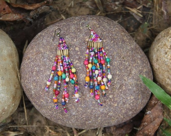 Shipibo Rainbow Earrings