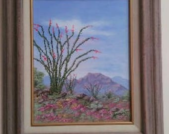Ocotillo Spring original oil painting