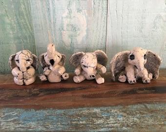 Dumbo Baby elephant céramic raku