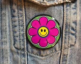 Groovy flower power smiley