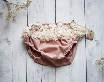 Blush and Ivory Fringe Bloomers
