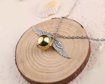 Golden Snitch Necklace, Golden Snitch Earrings