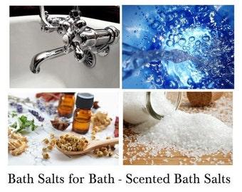 Bath Salts for Bath - Scented Bath Salts With True Essential Oils!