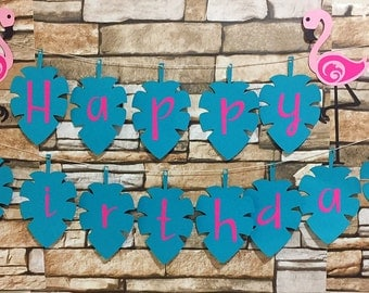 Flamingo Banner, Flamingo Birthday Banner, Flamingo Party Banner