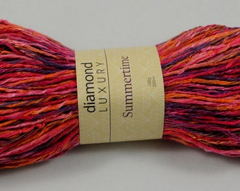 Worsted Weight yarn - Summertime by Diamond, color #165 Bonfire