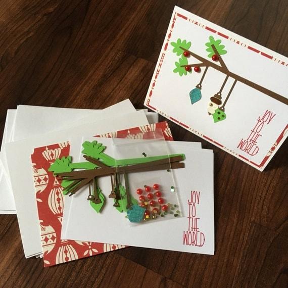 diy card making kit christmas holiday 4pk blank inside