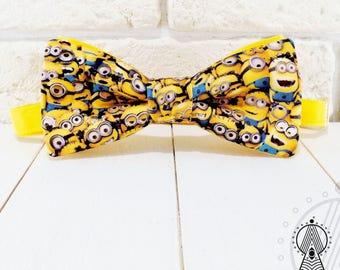 Bow Tie Minions, Bowtie yellow, Bow tie banana, Men's bow tie, Women's bow tie, Children's bow tie