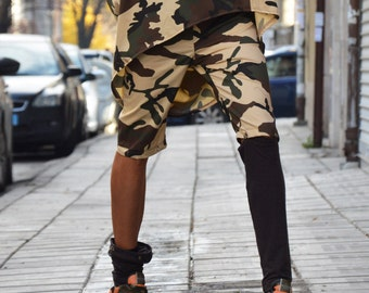 Women's Loose Cotton Pants, Loose Harem Pants, Casual Camouflage Pants, Evening Pants, Oversize Pants, Evening Pants by SSDfashion