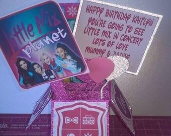 Little Mix Birthday Pop Up Card, Concert Tickets, Little Mix Birthday, Surprise Trip, Birthday Card, 3D Card, Pop Up Box,