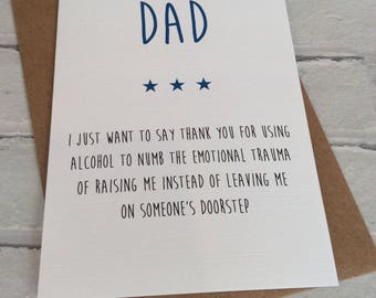 Handmade Birthday/Father's Day Card (Alcohol to Numb...) Funny Adult Humour Novelty (Dad)