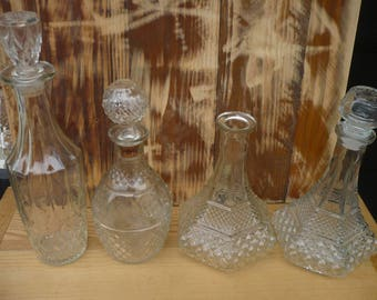 Glass Decanter, Various Sizes, Sold Separately