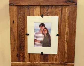 Rustic Wood Frame, Rustic Frame, Reclaimed Wood  Frame, 8 x 10 Picture Frame with Mat, 11 x 14 picture frame without mat, Free Shipping!