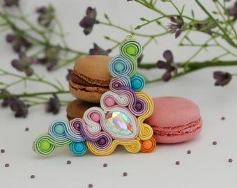 Handmade Soutache Earrings - Spring Necklace