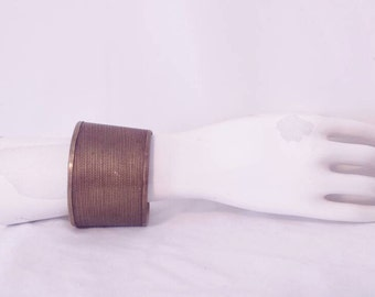 Vintage brass adjustable cuff bracelet