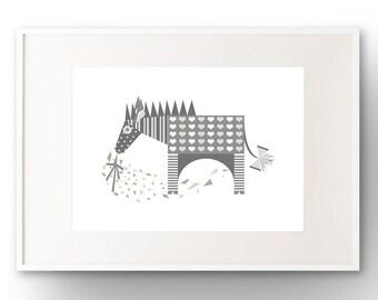 A3 Zebra Art Print