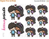 20% OFF A772 | YOU And Me Bi-racial stickers - Keenachi Repositionable Stickers Perfect for Erin Condren Life Planner, Filofax, Plum Paper