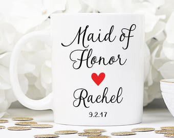 Maid of honor mug, maid of honor gift, wedding gift, wedding mug, MOH mug, bridesmaid mug