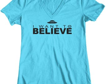 I Want To Believe, Womens X-Files T-Shirt