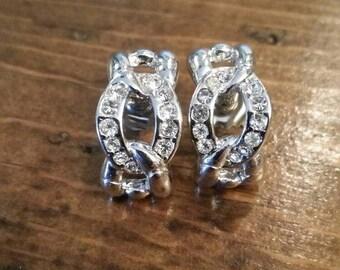 Rhinestone Braid Earrings