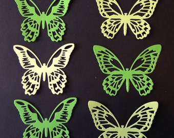 Intricately Cut Butterflies, Set of 6