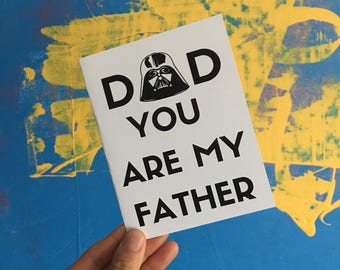 Father's Day Card /Card for Dad /  Fathers Day Card / Funny Card / Star Wars Card / Darth Vader Card / I Love You Dad/ Gifts for Dad