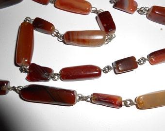 Carnelian necklace length 85 cm