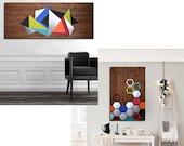CUSTOM ORDER - Adriana - Geometric Illumination 60x24 / Mod Honeycomb 36x24